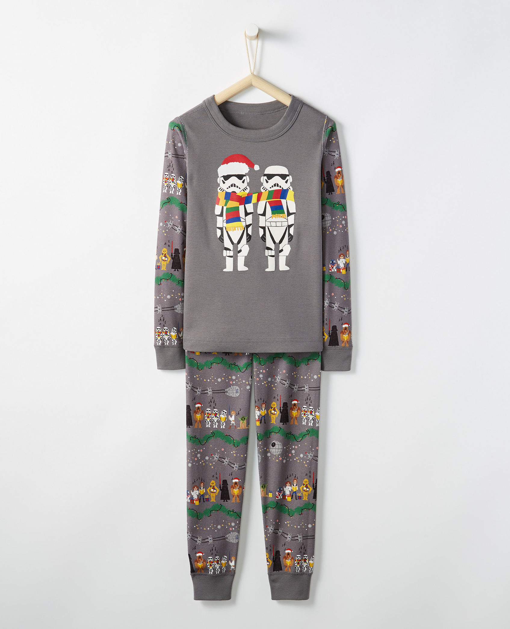 Modern Christmas pajamas for kids: Star Wars pajamas | Hanna Andersson
