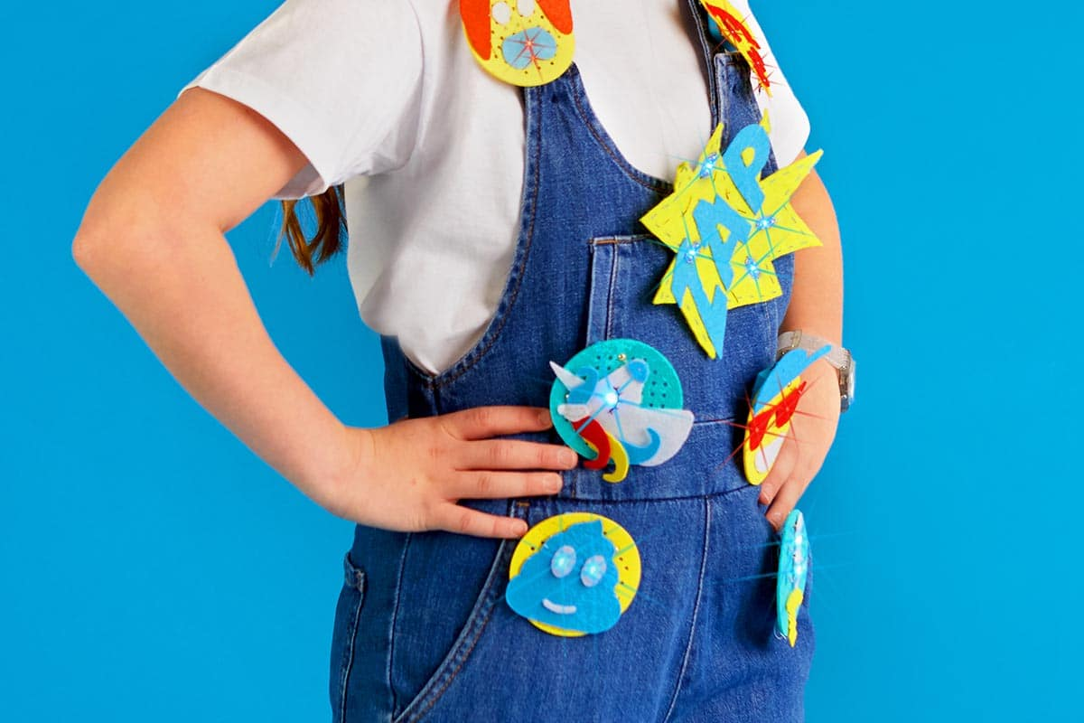 Cool gift ideas for tween girls: Sew and Glow Learning STEM badge DIY kit