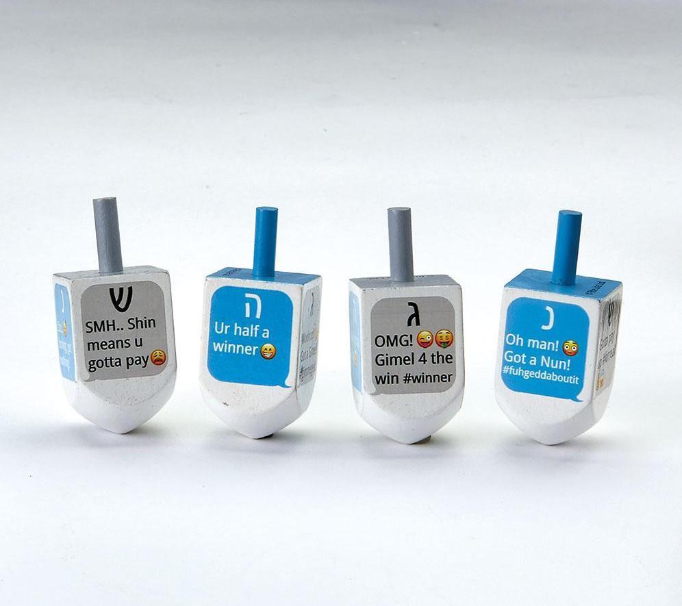 Texting dreidel set: Cool Hanukkah gifts for kids