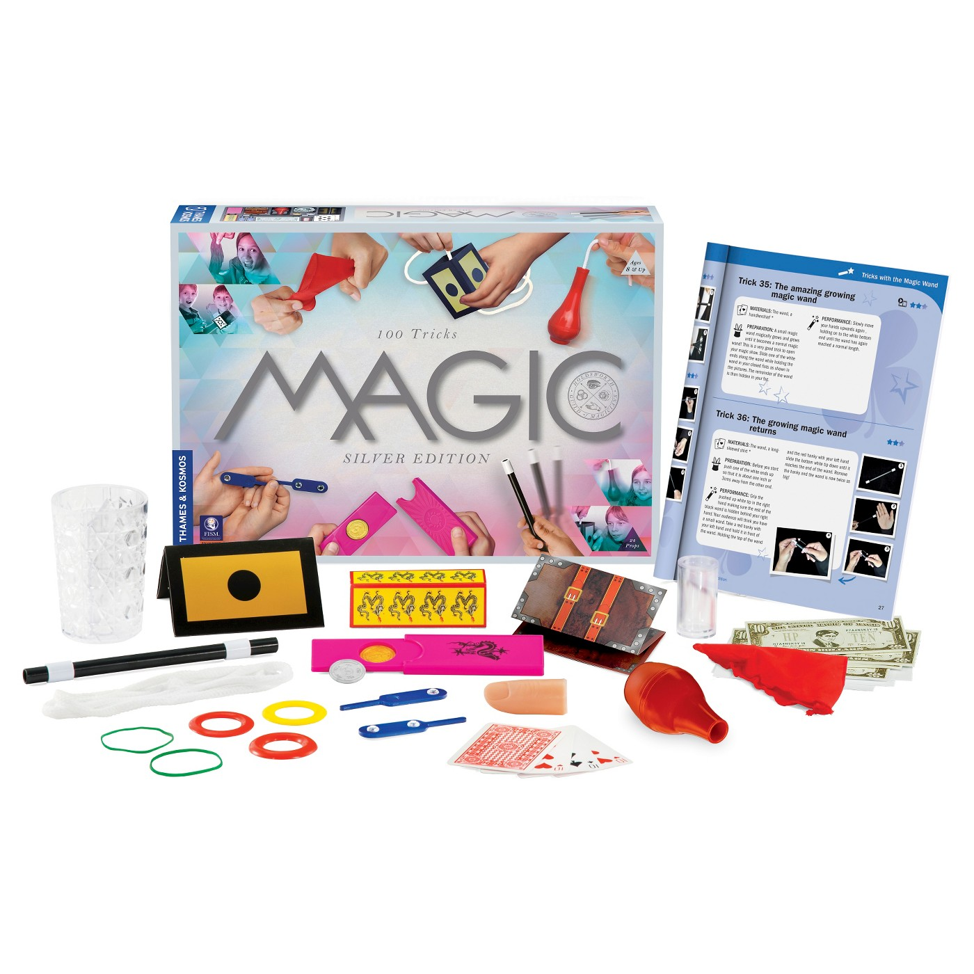Cool gift ideas for tween girls:  Thames & Kosmos 100 Trick Magic Set