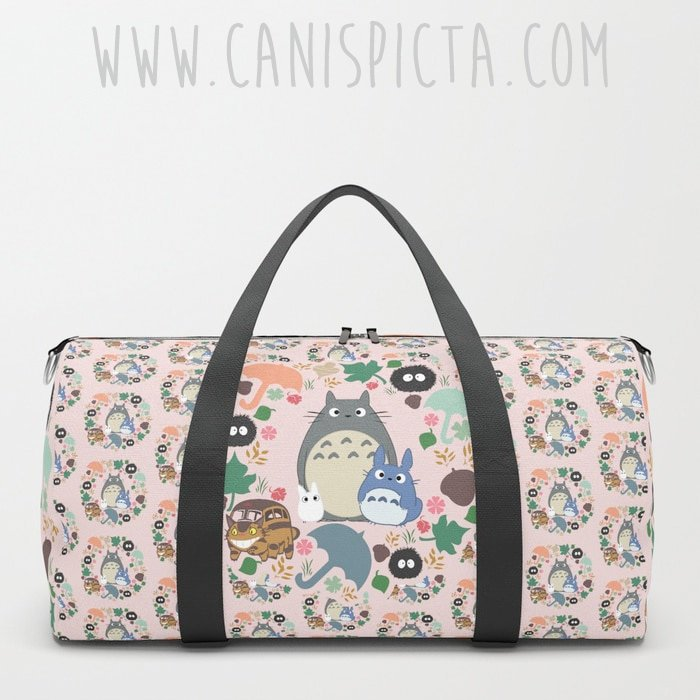 Cool gift ideas for tween girls:  Totoro Duffel from Canis Picta