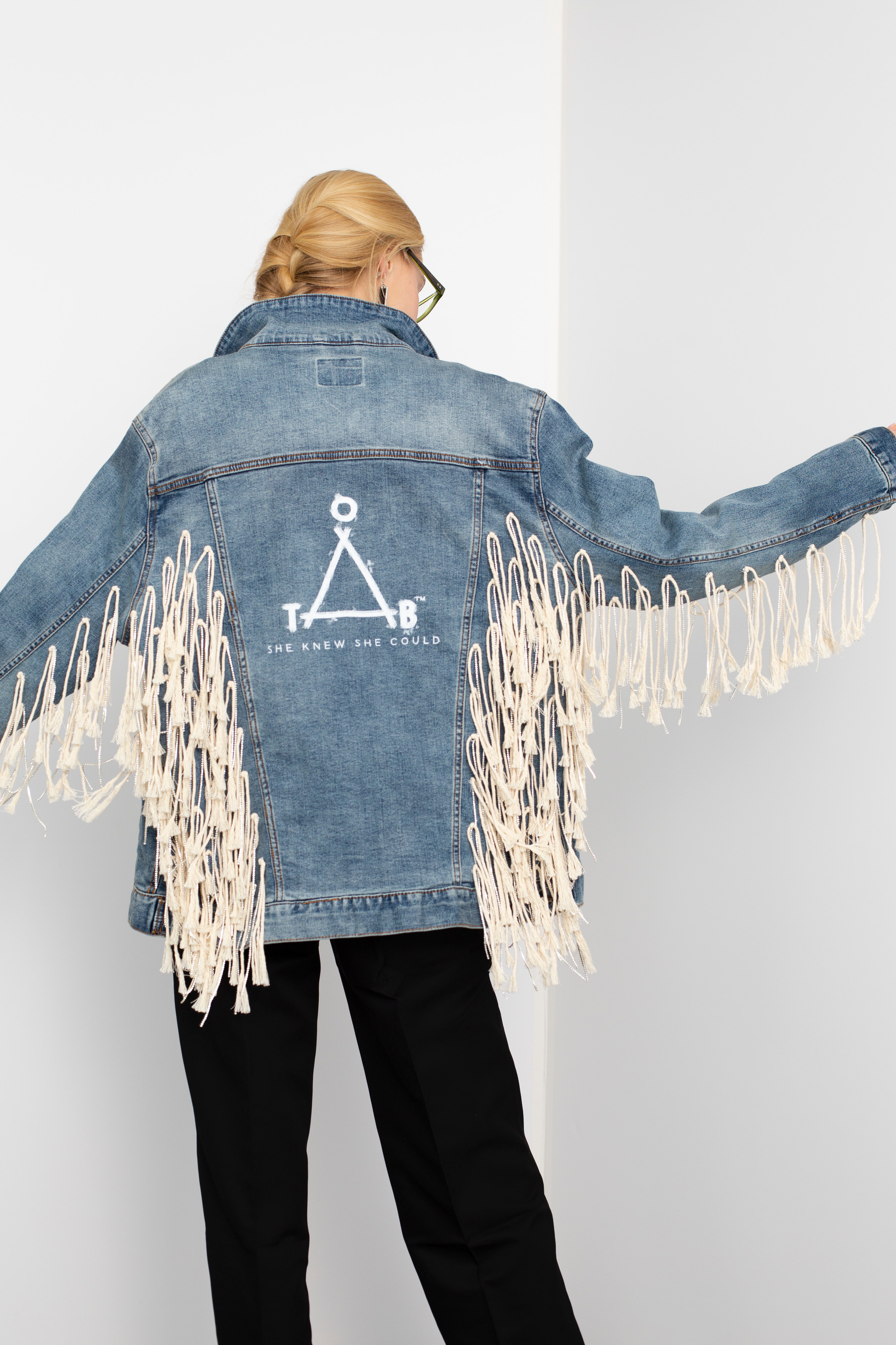 Trevor Mcleod jacket: Jean Jacket Auction for Charity One Tough Bitch