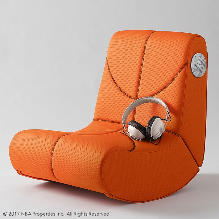 Cool gifts for tween boys (and girls): NBA mini rocker speaker chair from PB Teen