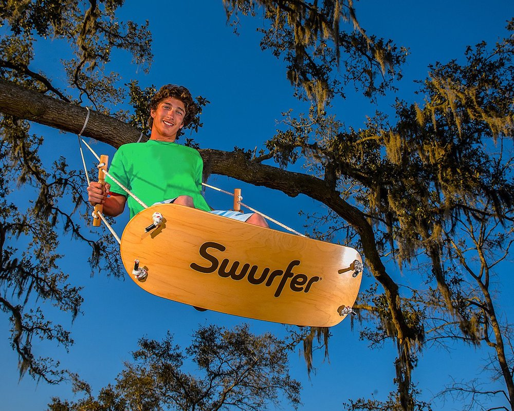 Cool gifts for tween boys (and girls): Handmade Swurfer backyard swing