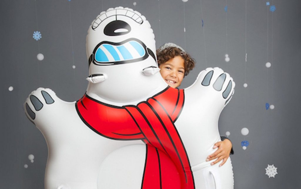Cool tween boy gifts: giant polar bear snow tube | cool mom picks holiday guide