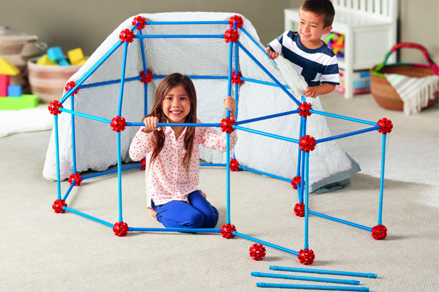 Top learning toys from Lakeshore Learning: The Ultimate Fort Builder. Helps develop STEM skills, problem-solving, and inspires creative play and imagination (sponsored)