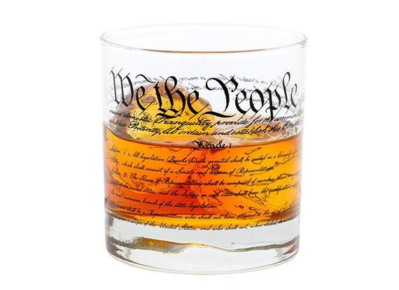 Cool affordable gifts under $15: US Constitution rocks glass