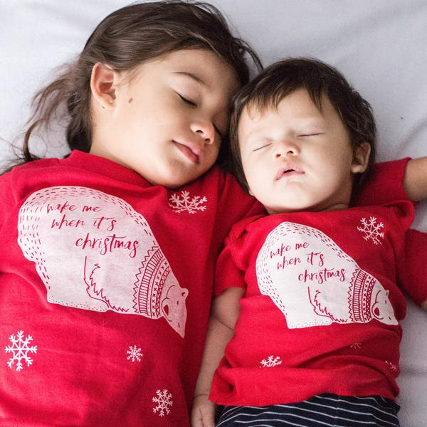 Positive kids' holiday tees: Wake me when it's Christmas via Free to Be Kids