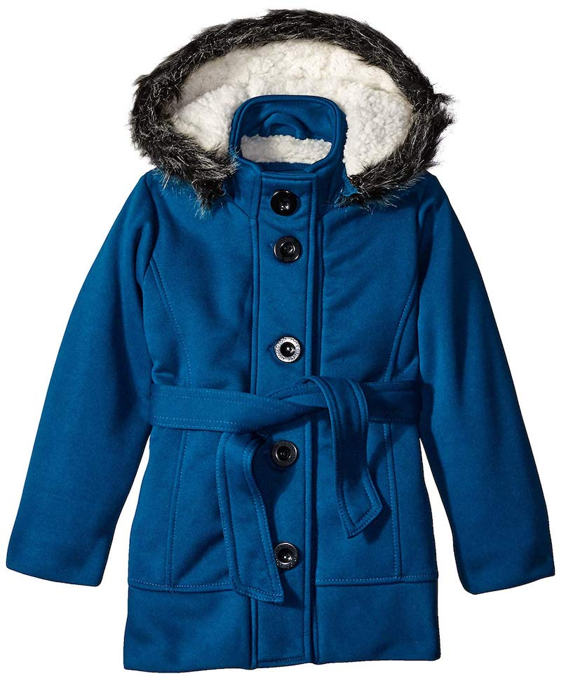 Winter coats for girls: Belted wool coat at Limited Too