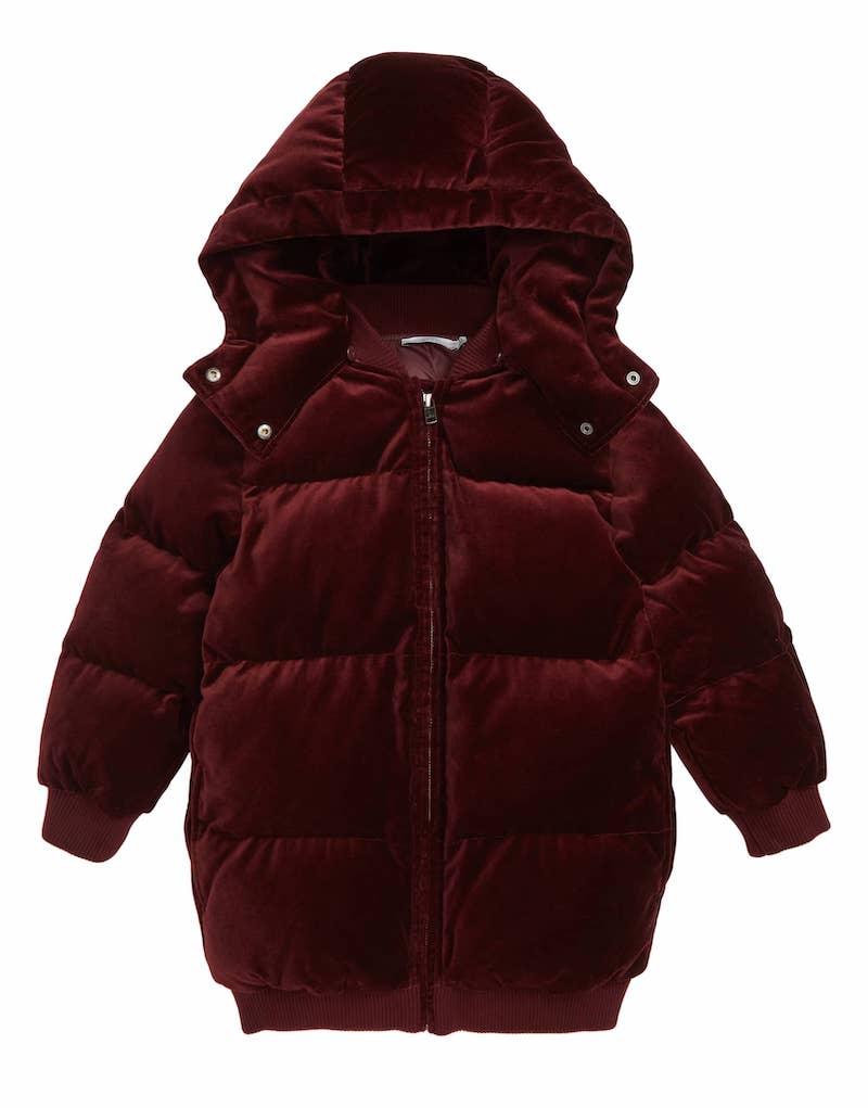 Stylish winter coats for girls: Velvet puffer by Stella McCartney