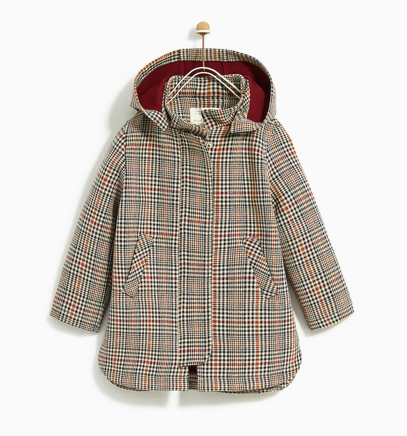 Stylish winter coats for girls: Boxy tweed at Zara
