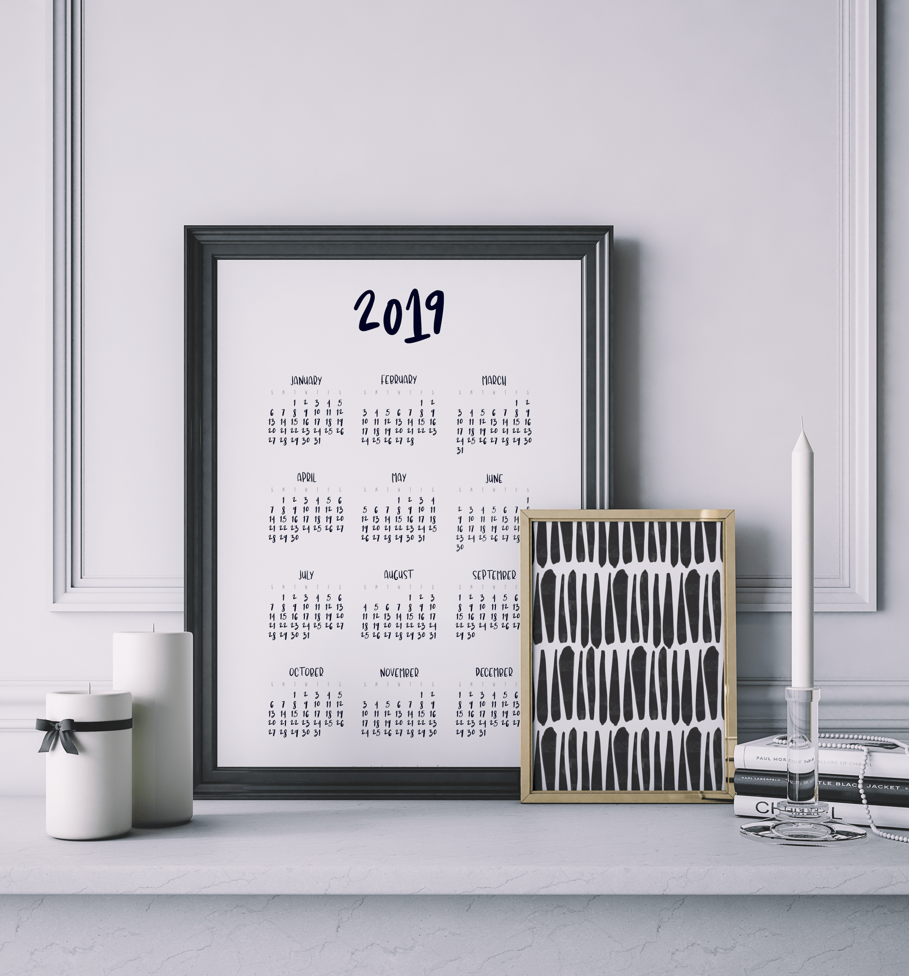 8 Fun Free Printable Calendars To Keep You Organized In 2019