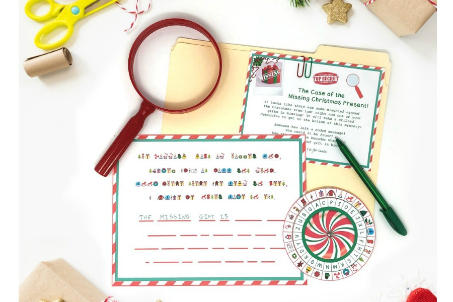 Christmas morning fun that doesn't cost a thing: Try this free printable Christmas Secret Decoder Wheel