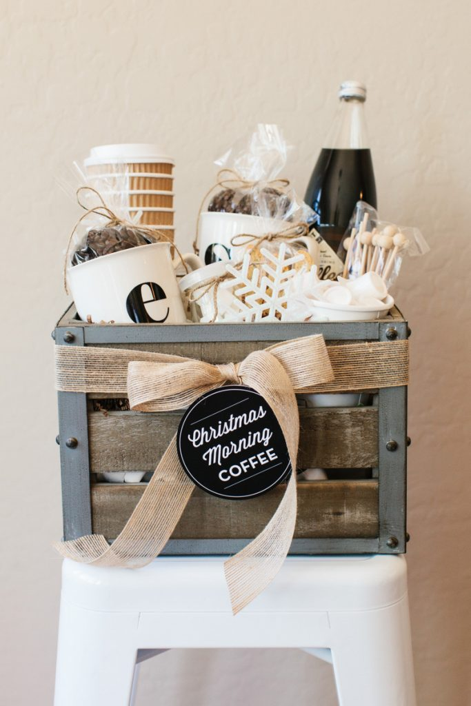 Last minute gift ideas: Christmas morning coffee gift basket from TomKat studio blog