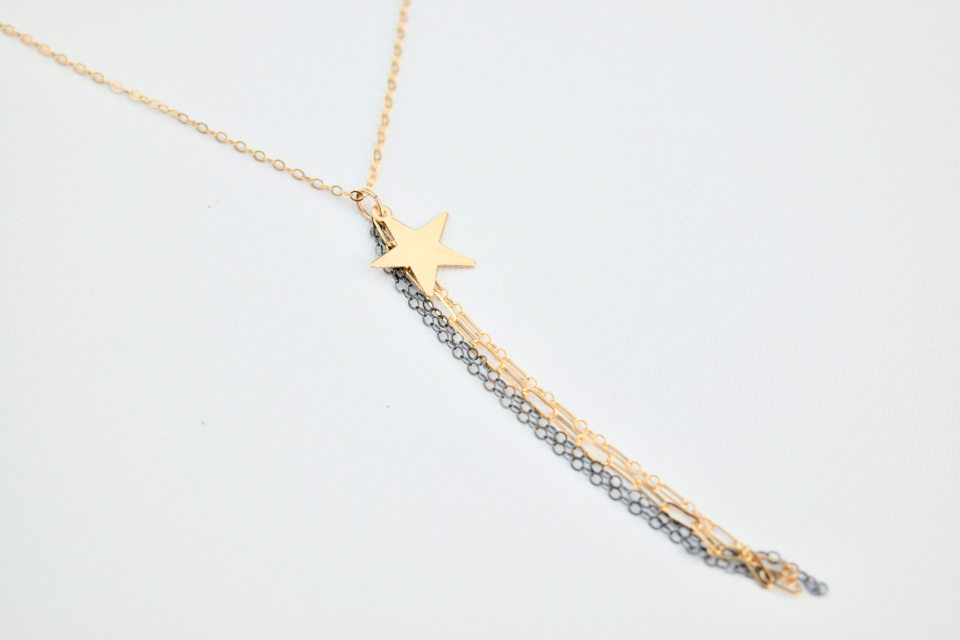 Delicora star lariat necklace: 20% of all purchases support California first responders right now