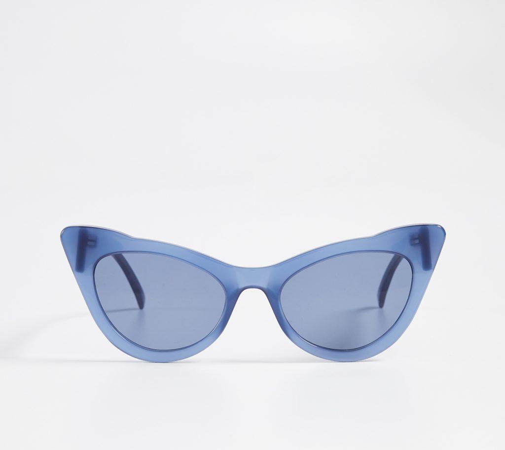 b5fe3d07c01f4 Ganni Lulu sunglasses in blue nail a few of the top 2019 eyewear trends all  at