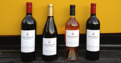 Grable Vineyards wines: 50% of select Magnums of their wines are supporting the first responders at the Camp fires