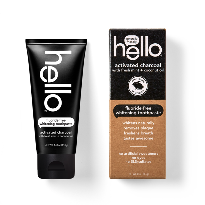 Practical stocking stuffer ideas: The Hello activated charcoal whitening toothpaste (sponsor)