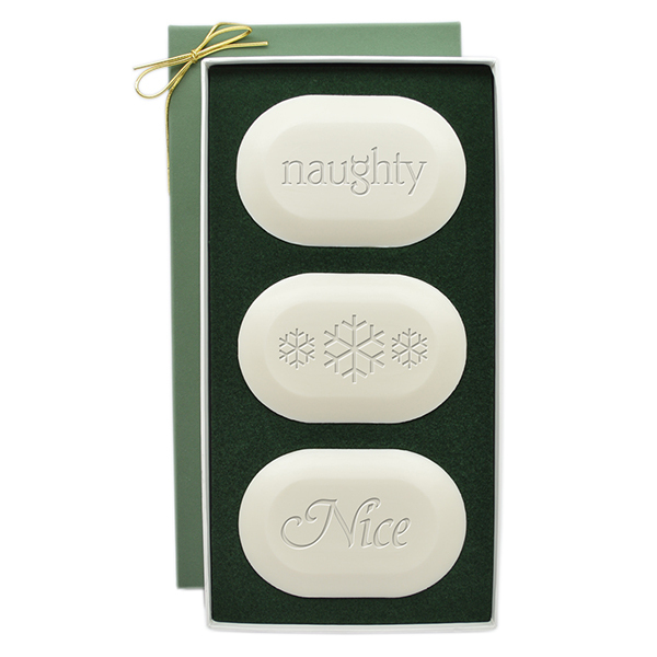 Gifts that give back to first responders of the California wildfires: Naughty and nice soap gift set| Aha