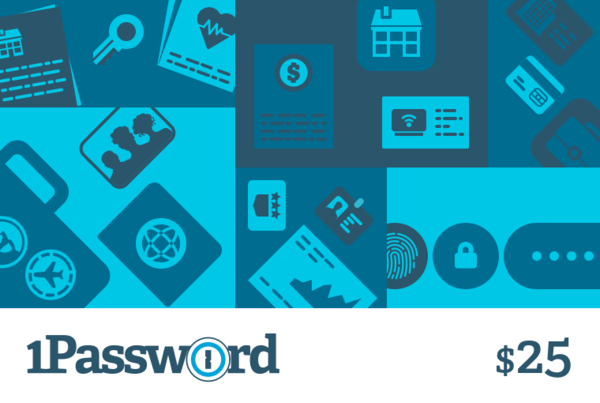 Practical stocking stuffers: A 1Password gift card for someone who's been putting off changing all their passwords --and keeping them safe