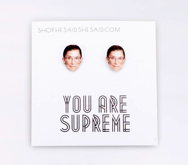 You are Supreme RBG earrings at Wildfang: Gift for feminists and activists