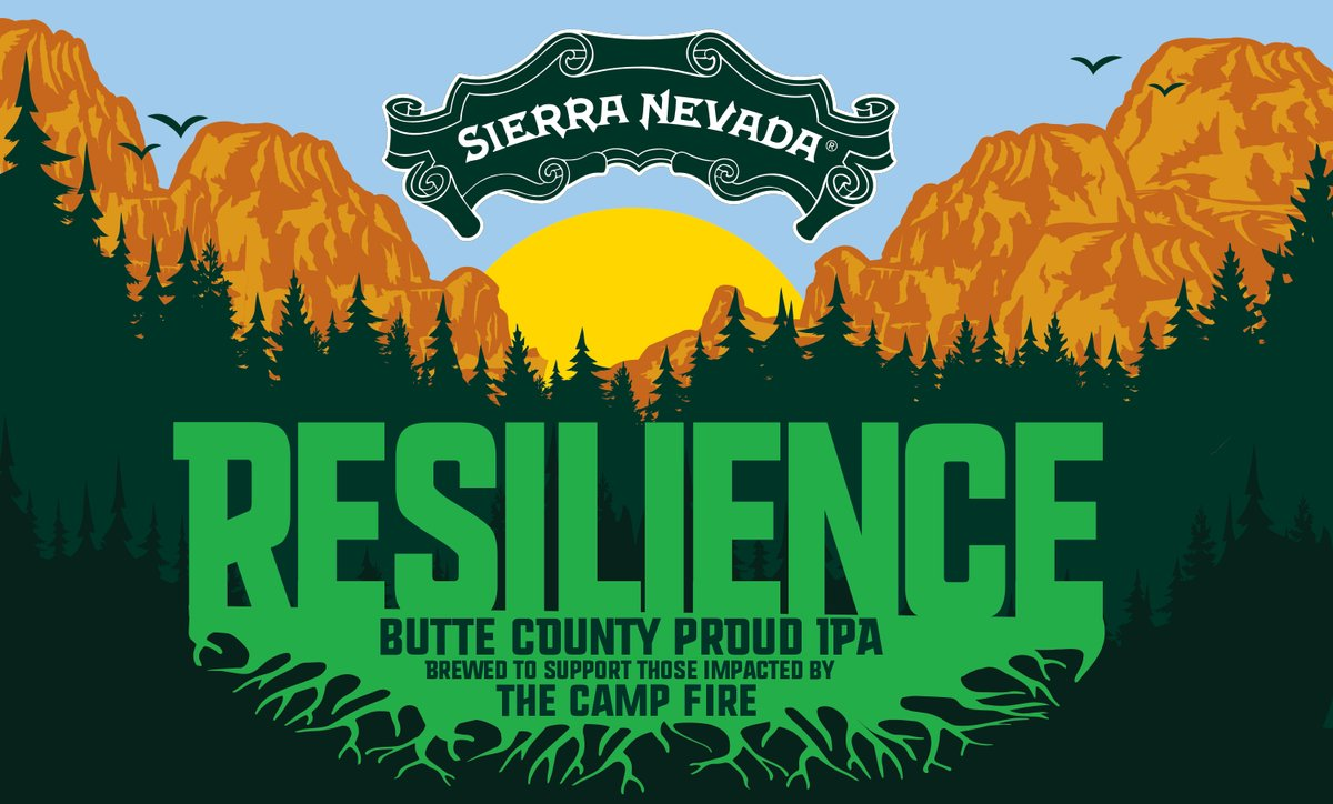 Gifts that give back to first responders of the California wildfires: Sierra Nevada Resilience Butte County Proud IPA