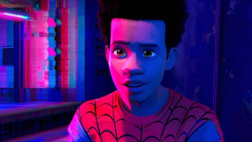 the diversity of 2018 film heroes: Miles Morales in Into the Spider-Verse