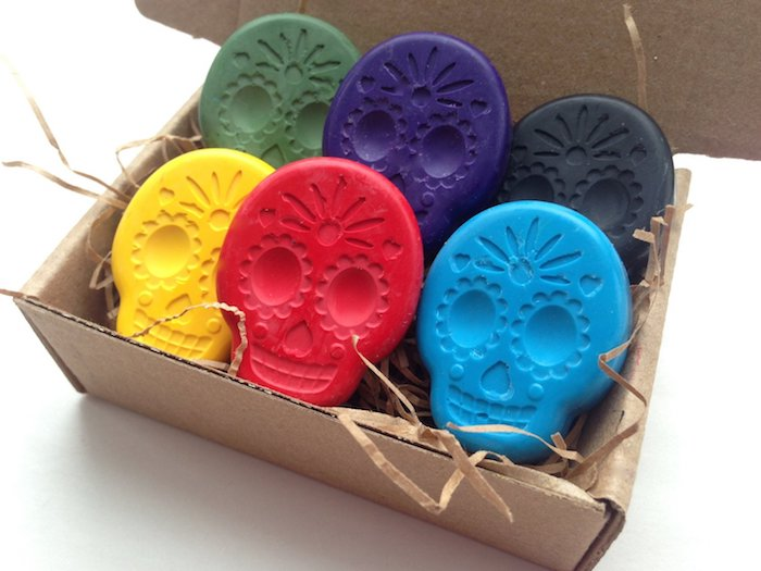 Sugar skull crayons: Cool gifts for kids under $15