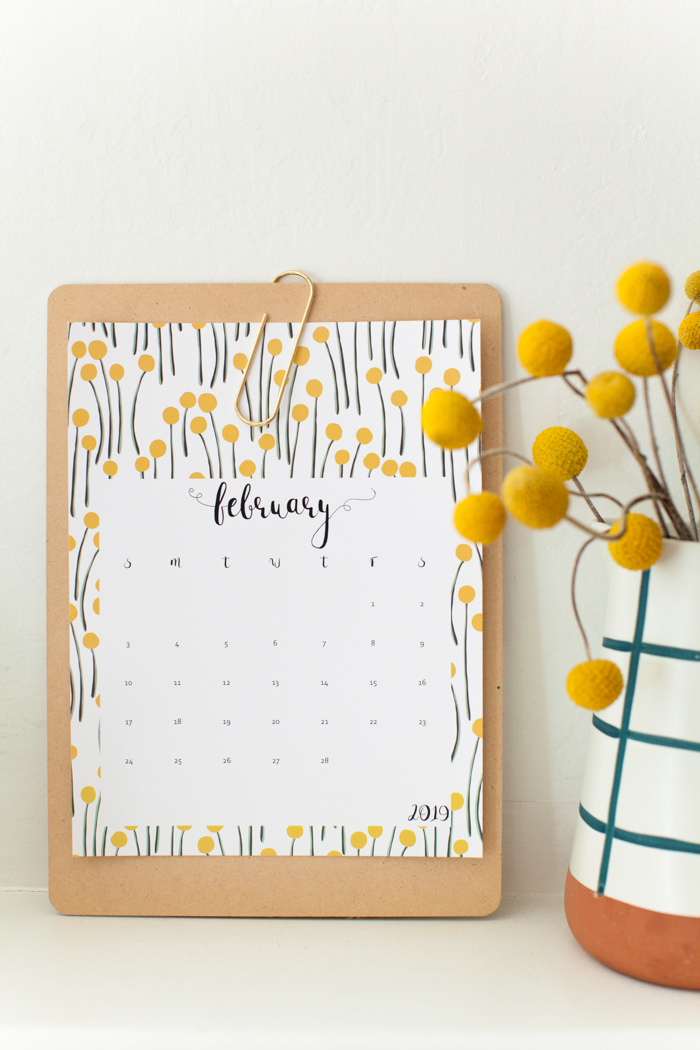 Free 2019 printable calendars: 2019 printable calendar | This Little House