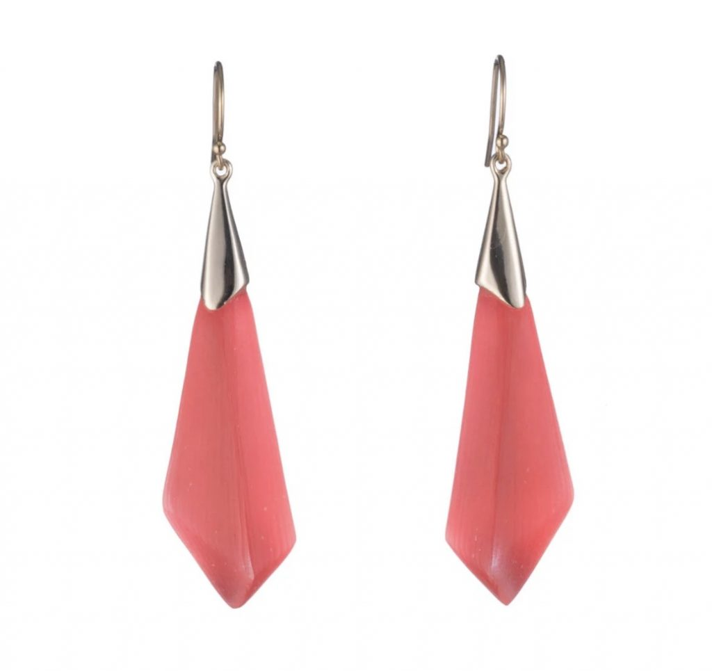 Pantone Coral earrings: Alexis Bittar Faceted Wire Earrings in Coral