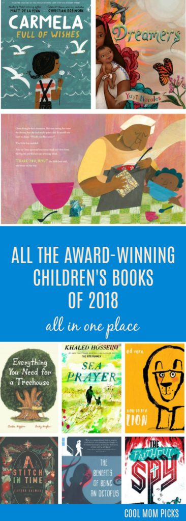 All the award-winning children's books of 2018 all in one place: From picture books to YA novels | coolmompicks.com