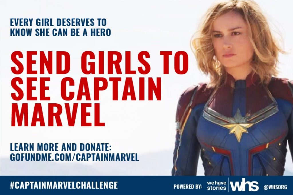 The #CaptainMarvelChallenge from We Have Stories is sending girls from Girls Inc. to see a badass, inspiring superhero on the big screen