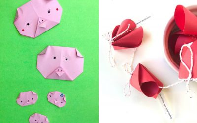 7 wonderful Year of the Pig Chinese New Year crafts for kids to welcome a year of fortune, luck and prosperity.