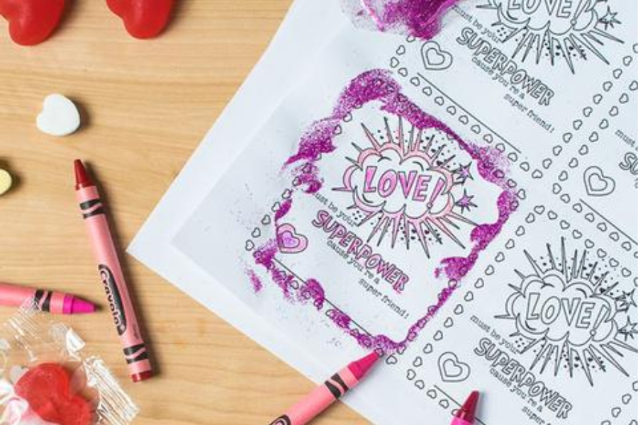 6 free printable, color-your-own Valentines that make the perfect party craft for kids
