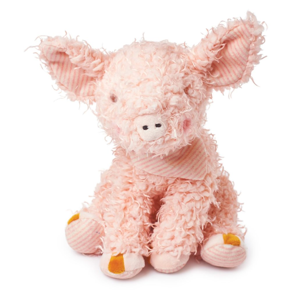 Year of the Pig baby gifts: Scruffy plush pig