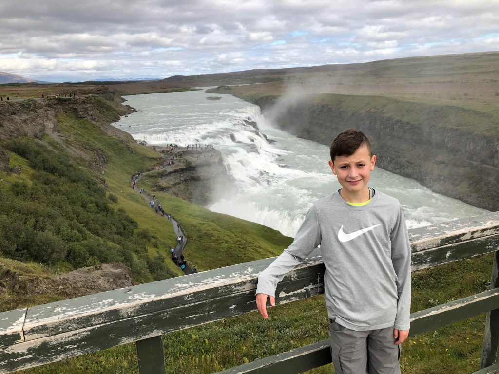 Golden Circle Tour with kids: Gullfoss waterfalls