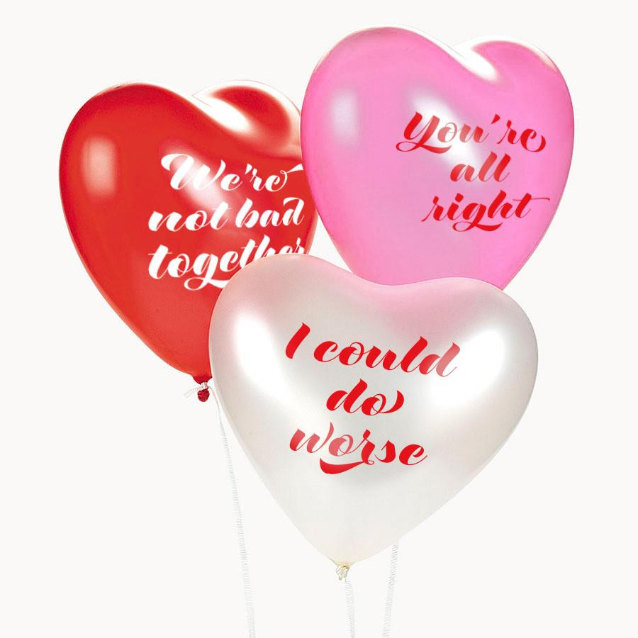 Lukewarm Valentine's Day balloons: Perfect Valentine's Gift for a partner who hates Valentine's Day