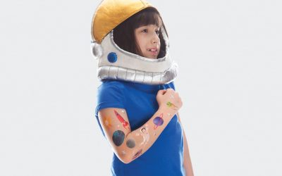 The new Oliver Jeffers space tattoos by Tattly let kids wear the moon and stars