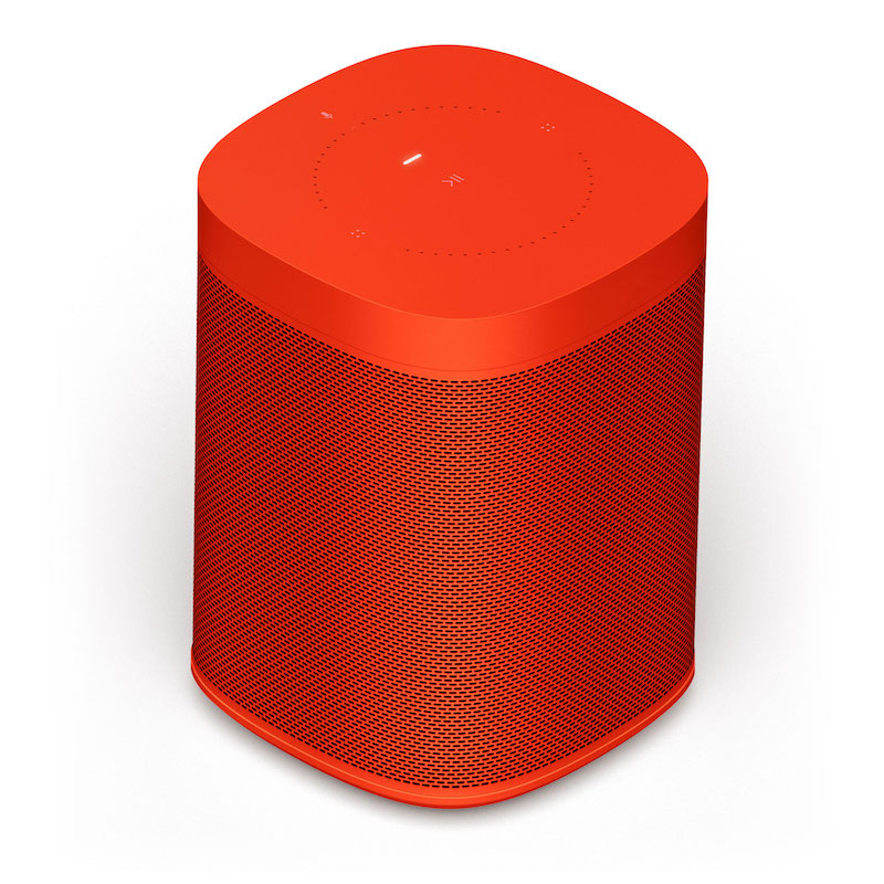 Practical Valentines gifts for her: HAY Sonos One limited edition vibrant red speaker