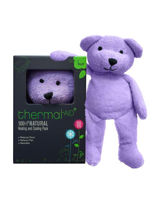 The Thermal-Aid Bear is like a boo-boo pack you can heat up or keep in the fridge for cuddly pain relief for your children