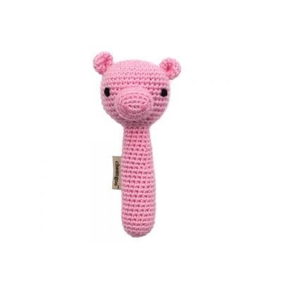 Year of the Pig baby gifts: Hand-crocheted pig baby rattle