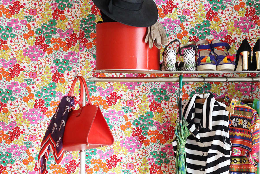Home decor inspiration: How to hang fabric on your walls instead of wallpaper