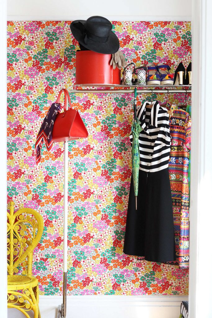 How to use fabric as wallpaper: Great tips from Apartment Therapy