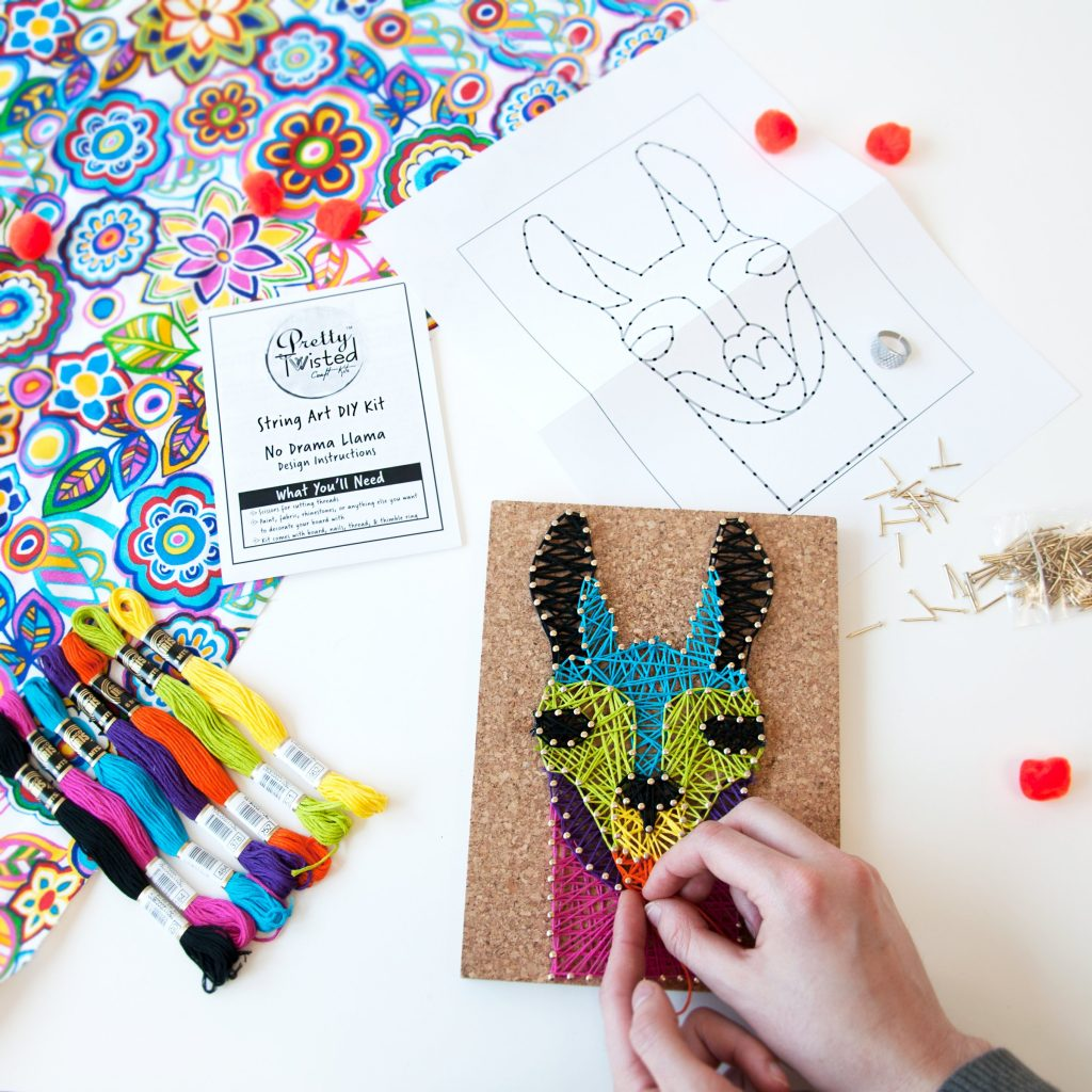 Llama String Art Kit from Pretty Twisted lets kids make their own gifts or decor