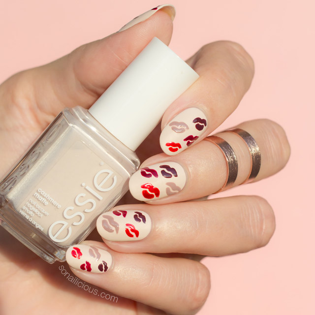 Valentine's lips nail art from So Nailicious is inspired by Kylie Jenner's lipsticks | #valentinesnails