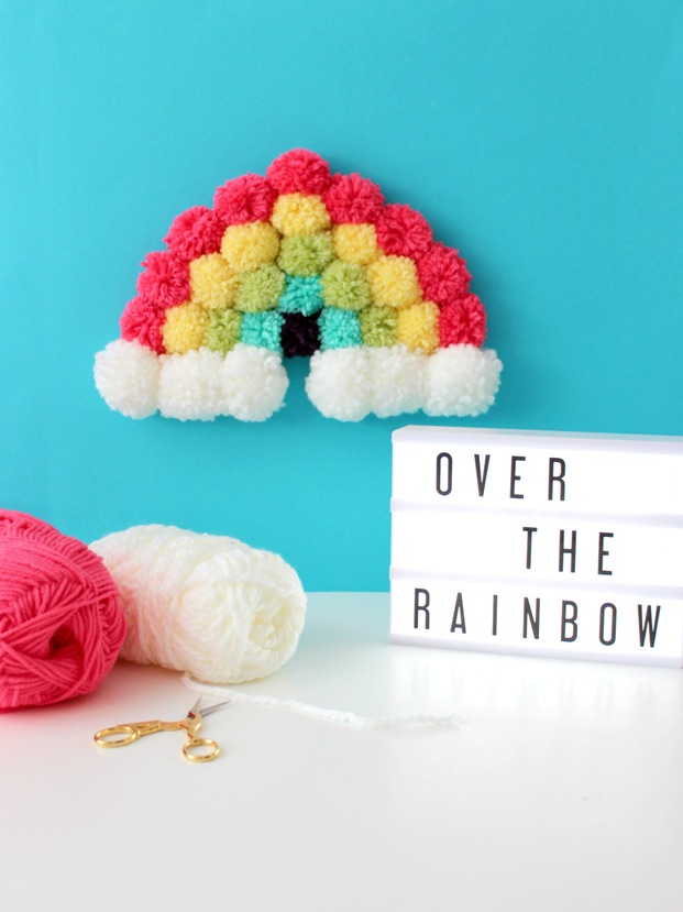 Rainbow crafts for St. Patrick's Day: DIY pom pom rainbow | White House Crafts
