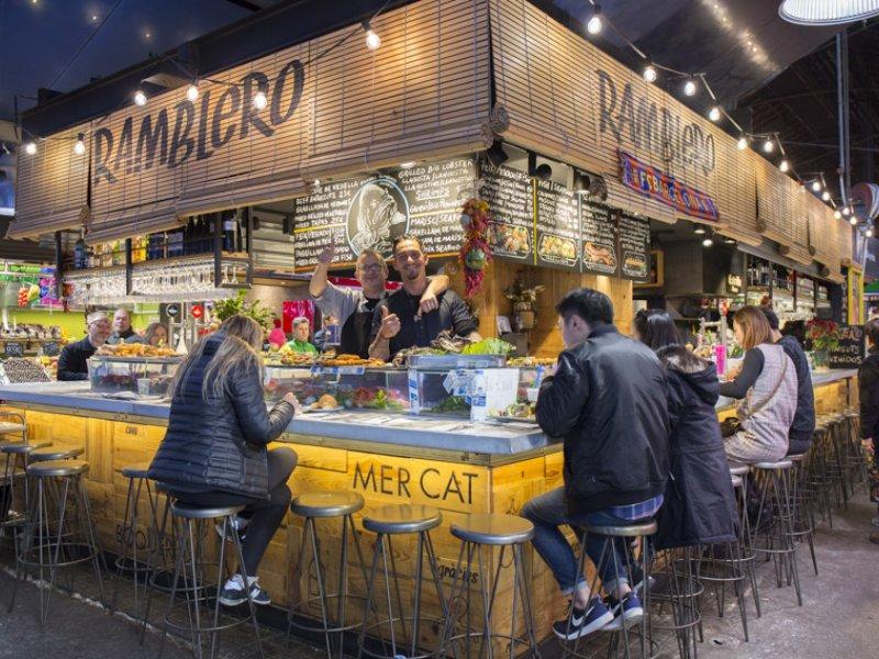 Bar Ramblero: One of the more popular Boqueria restaurants in Barceloa