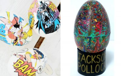 9 cool Easter egg ideas for tweens and teens who are over solid colors: Star Wars, pop art, fake cacti, and more