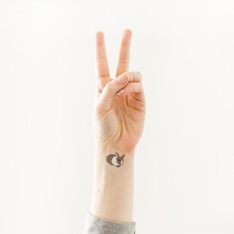 Easter basket ideas under $20: Bunny tattoos by Julia Rothman at Tattly