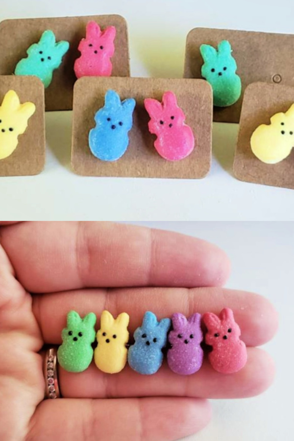 Peeps earrings on Etsy: Cool Easter Basket Gifts for Kids under $20